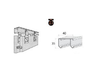 Направляющие для роликов MС-1405 (2м) верх. (алюмин.)