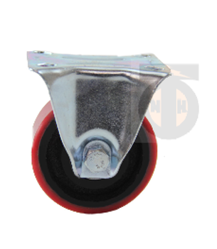 Колесо б/г полиуретан. неповорот. 100 мм ( Medium )