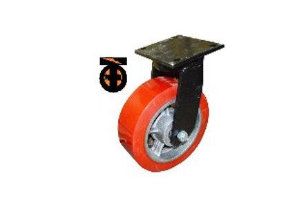 Колесо б/г полиуретан. поворот. 300мм шариковый подшипник  1043300