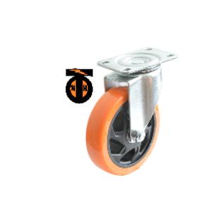 Колесо б/г полиуретан. поворот. PVC 100 мм (Medium) 4023100 PVC