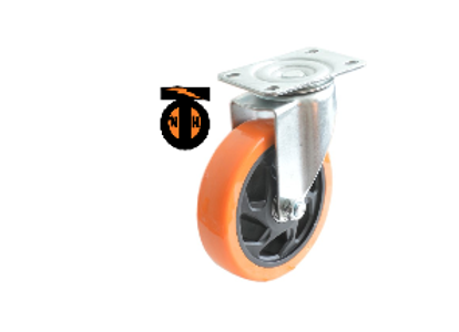 Колесо б/г полиуретан. поворот. PVC 125 мм (Medium)  4023125 PVC