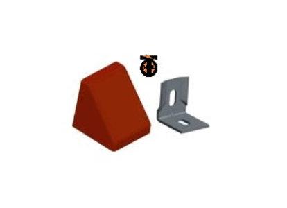 От 10 шт. Уголок 20*20*17*1,2 с заглушкой пирамида( красное дерево светлое(3) )