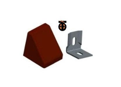 От 10 шт.Уголок 20*20*17*1,2 с заглушкой пирамида ( красное дерево темное(8) )