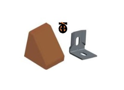 От 10 шт. Уголок 20*20*17*1,2 с заглушкой пирамида ( вишневый(5) )