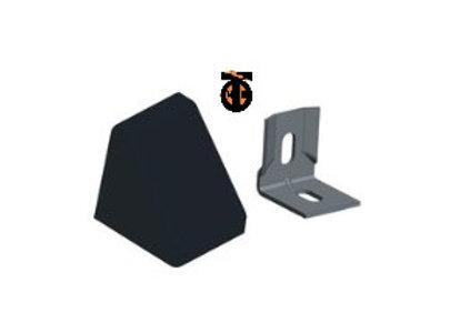От 10 шт. Уголок 20*20*17*1,2 с заглушкой пирамида( черный(2) )