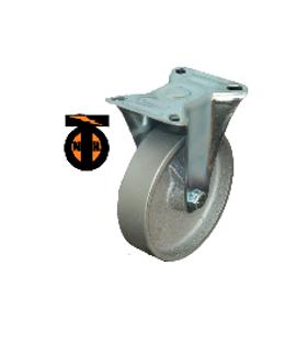Колесо Чугун неповоротное 125мм (30мм) литой обод FCss54  1131125 Light