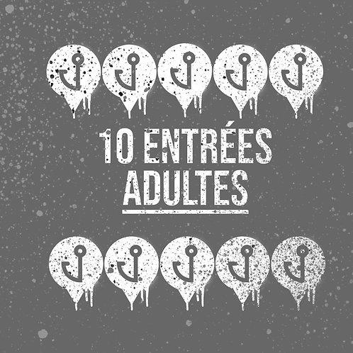 Carte 10 entrées pour adultes (15 ans et +)