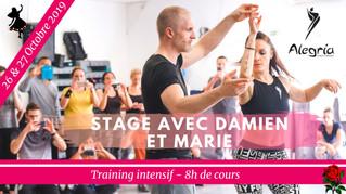 26/27 octobre 2019 : Stage intensif avec Damien et Marie Alegria DC / 8h de training à Nîmes