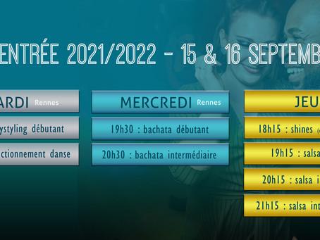 15 & 16 septembre 2022 : c'est la rentrée !