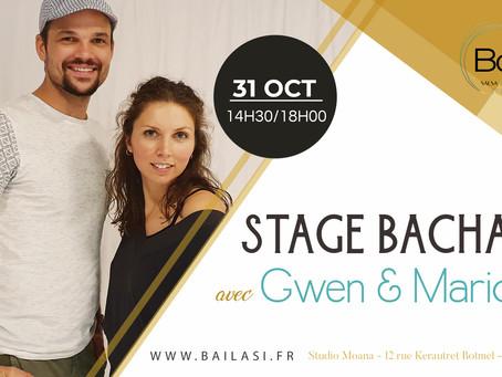 Samedi 31 octobre : stage de bachata avec Gwen et Marion !