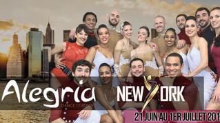 Alegria DC à New-York du 21 juin au 1er Juillet 2018