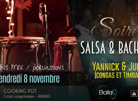 8 novembre : Soirée Salsa & Bachata by Bailasi ! Sessions salsa & percussion