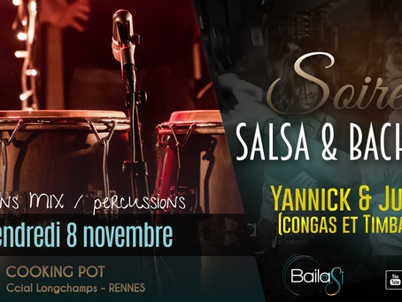 8 novembre : Soirée Salsa & Bachata by Bailasi ! Sessions salsa & percussion