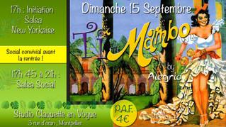 15 septembre : Ti'Mambo de rentrée ! Initiation salsa New-yorkaise