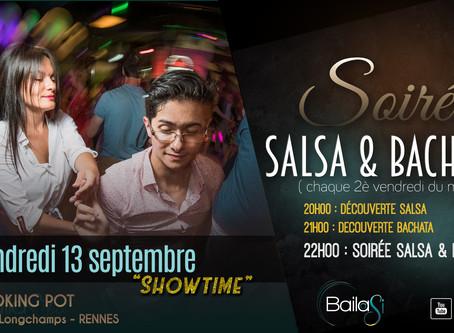 13 septembre : soirée salsa/bachata ! initiations gratuites, soirée & show !