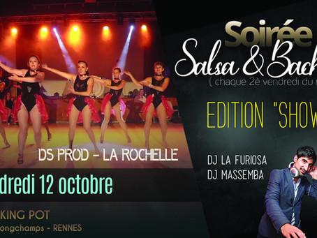"""12 octobre : soirée Salsa & Bachata édition """"Showtime"""""""