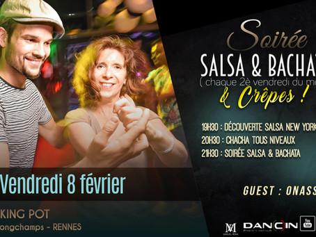 8 février : soirée Salsa & Bachata & Crêpes