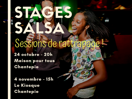 Sessions de rattrapage salsa débutant les 24 octobre et 4 novembre !