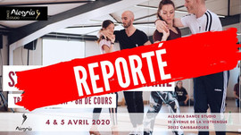 6/7 juin : stage intensif avec Damien et Marie / Alegria DC /Nîmes (report du stage des 4/5 avril 20