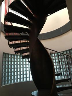 Three story spiral stair