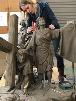 Half-size sculptures