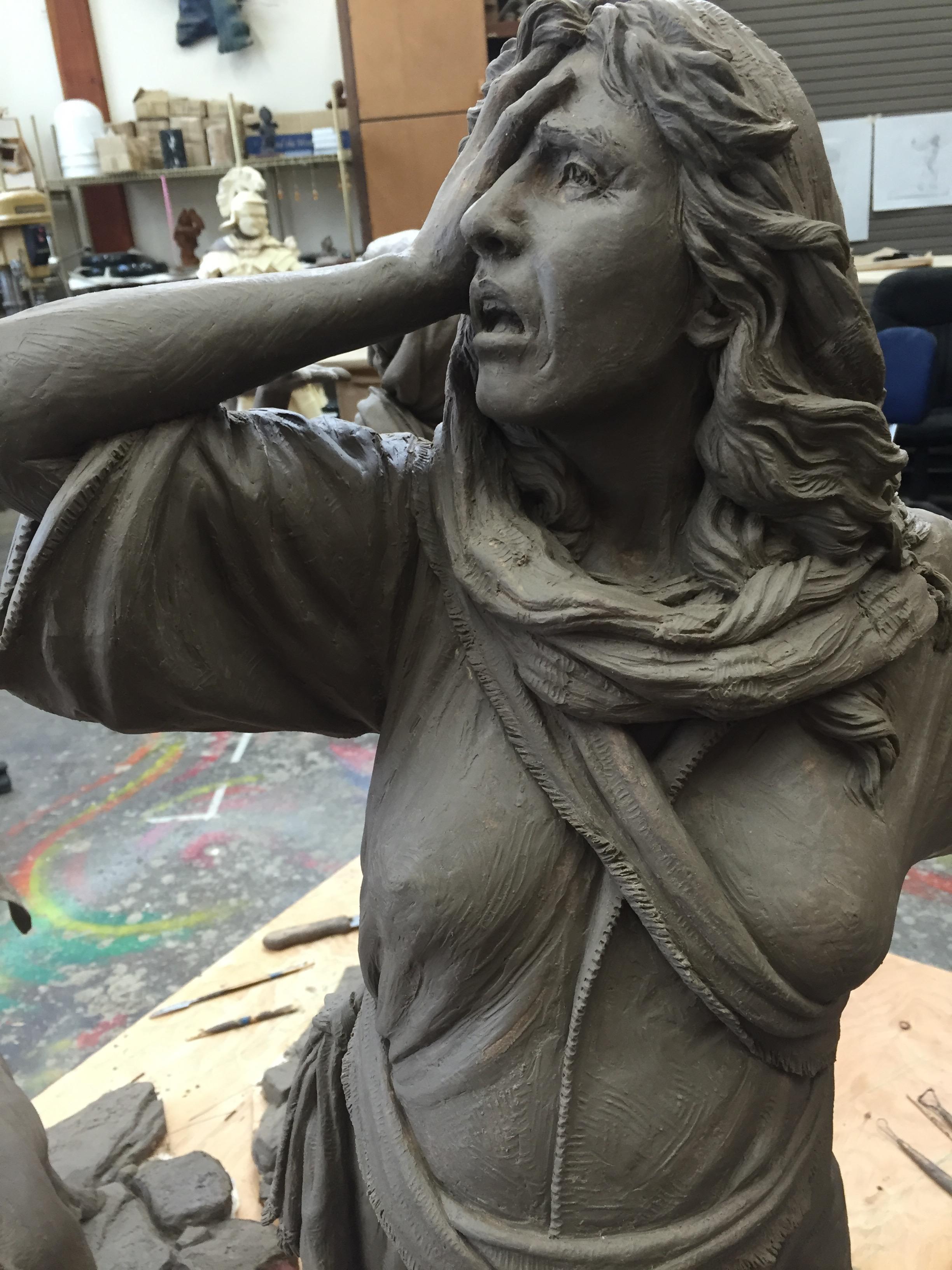 Clay sculpture details