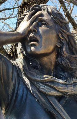 Detail bronze of Women of Jerusalem