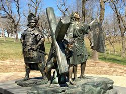 veronica-jesus-bronze-crucifixion-sc