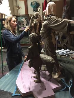 Detailing each sculpture