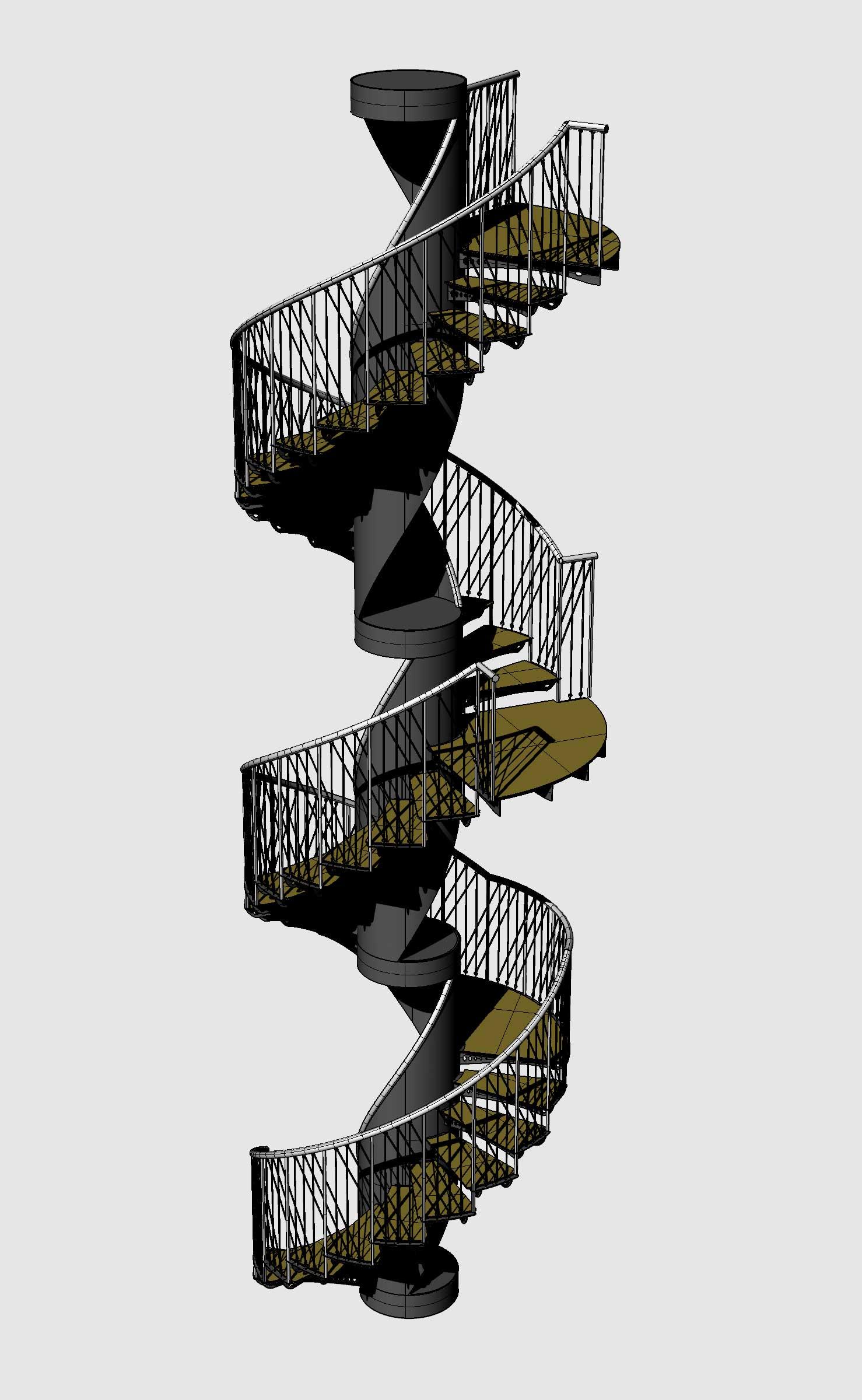 Initial Rendering of Spiral Stair