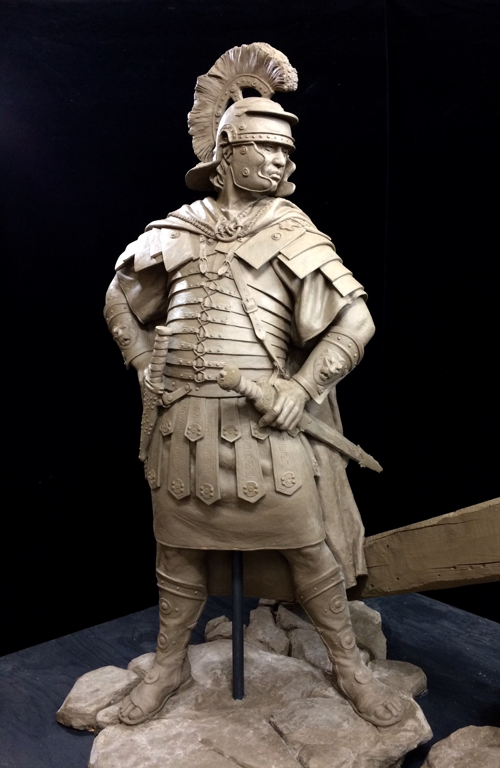 Half-size clay sculpture