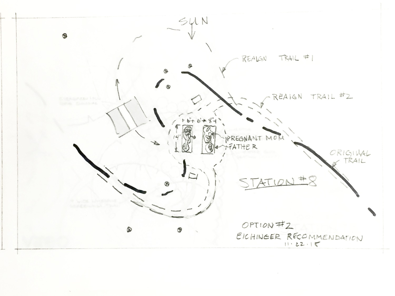 Overhead sketch for Station #6