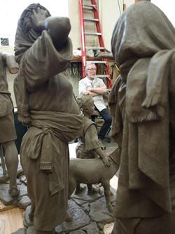 The master sculptor's critical eye