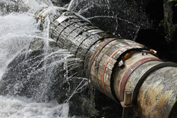 Broken Water Or Sewage Pipes