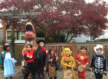 After School Goes Trick-or-Treating By Maudie James