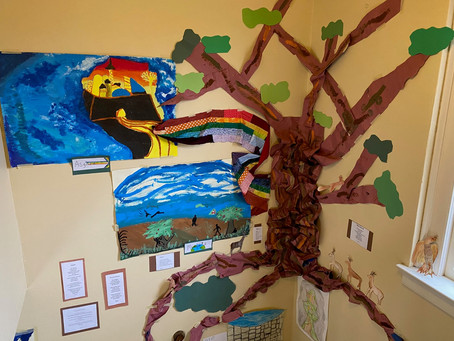Yggdrasil, the World Tree of Norse Mythology as imagined by North Room Students