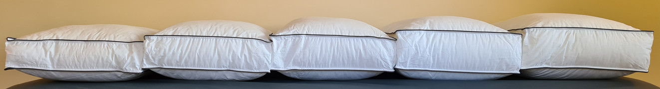 5 different height range pillows