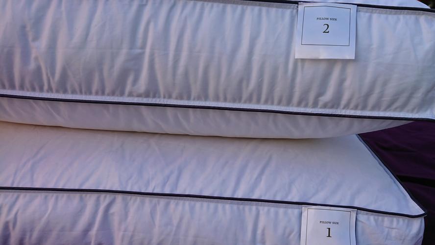 Different height pillows