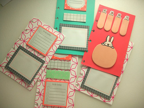 Sticky Notes Page for Planner - Universal size - Custom made