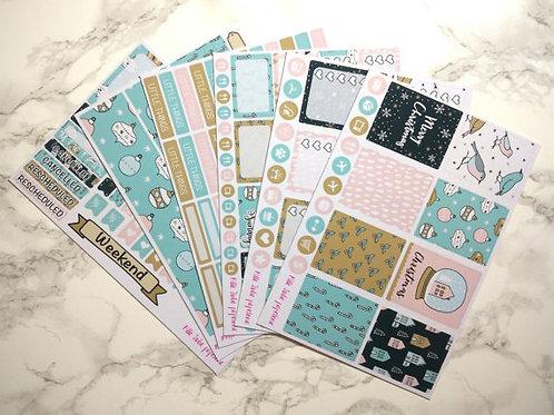 Erin Condren size - Weekly Sticker Kit - Christmas