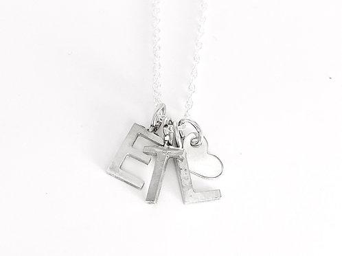 Petite letters necklace