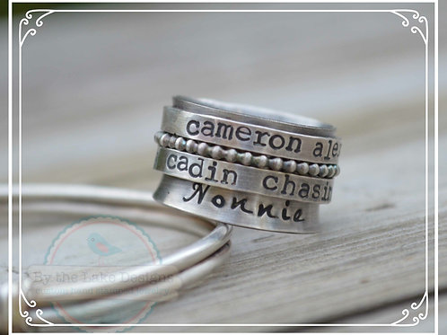 double name band spinner ring