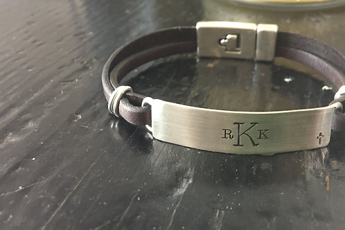mens monogram bracelet