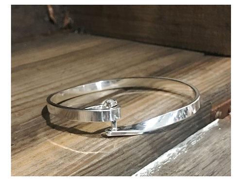 Moissanite sterling bracelet