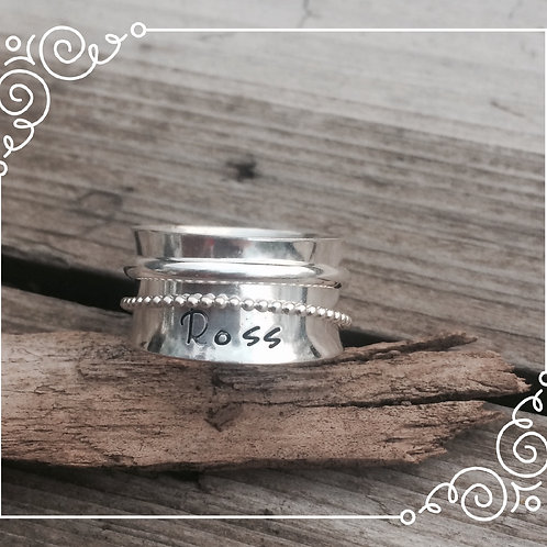 simple spinner ring