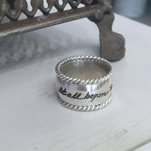 custom signature ring