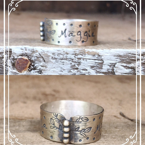 family tree name ring
