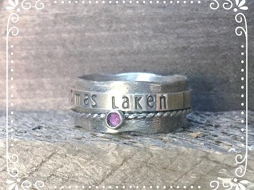 wavy spinner ring
