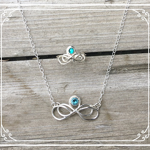 Alyse  ring and necklace set