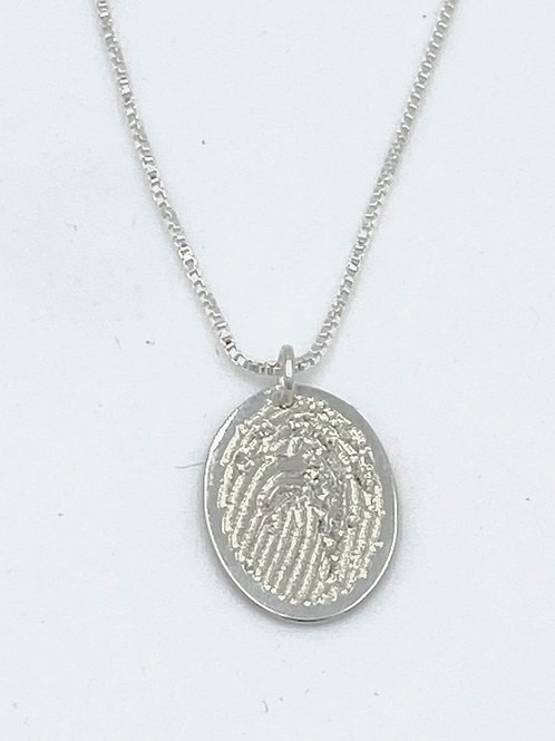 thumbprint oval necklace